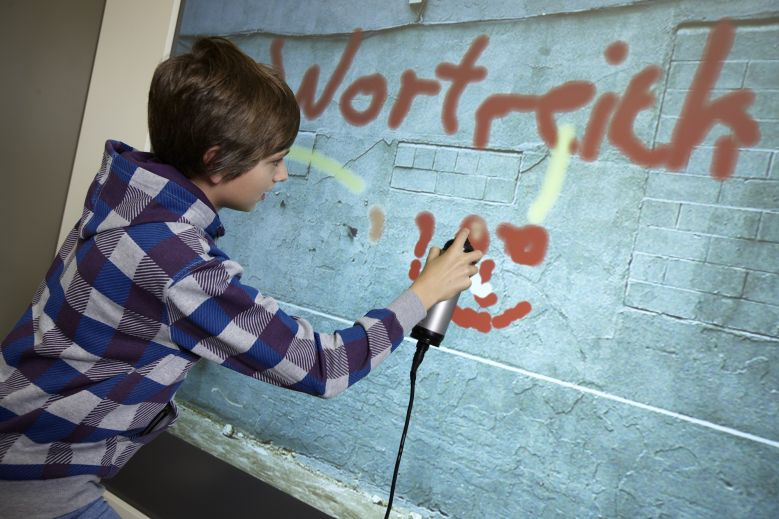 Exponat Graffiti-Wand